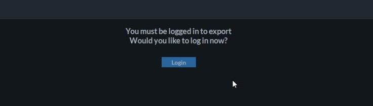 Login is needed to export videos