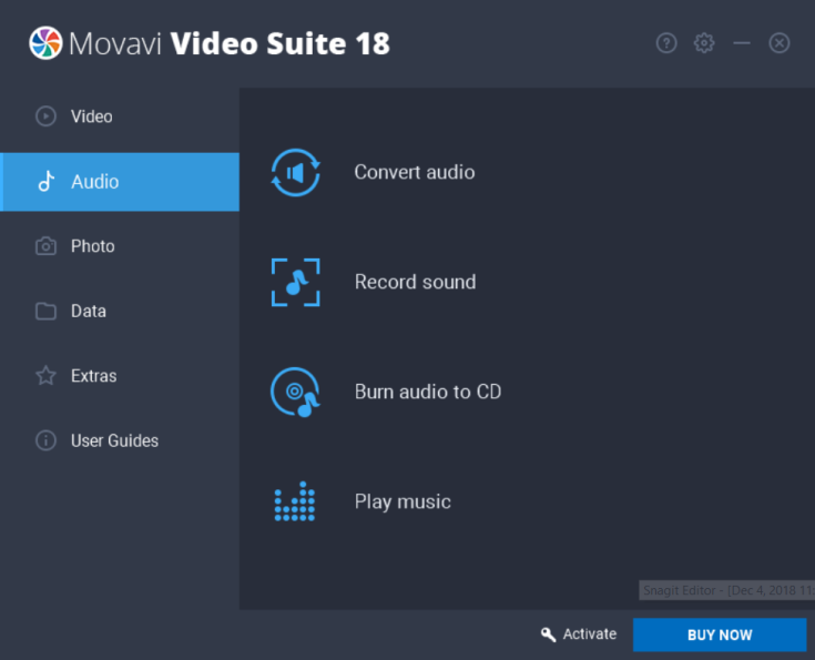 Movavi Video Suite Audio
