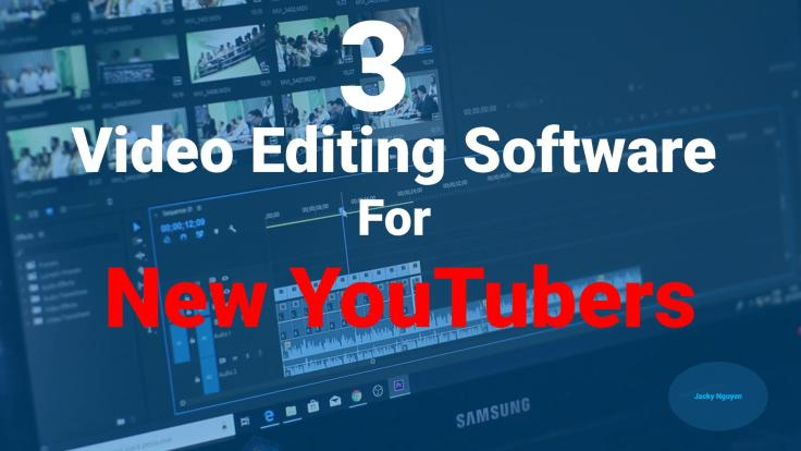Affordable video editing software for new youtubers