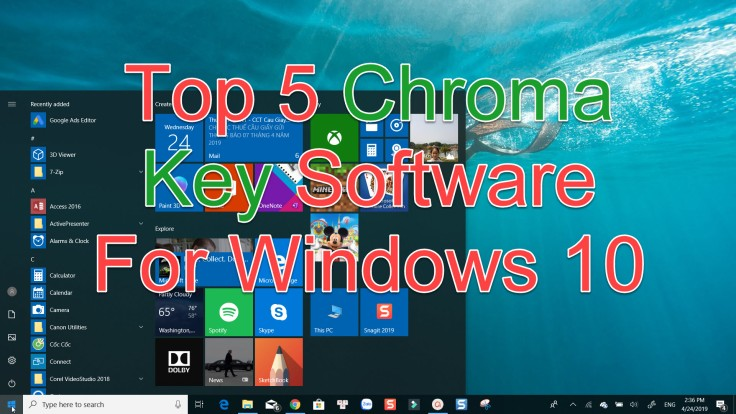 Chroma key software for Windows 10