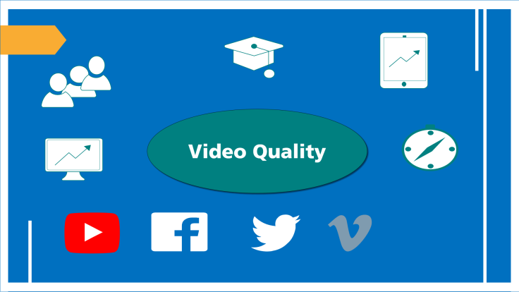 Video quality depends on different factors.