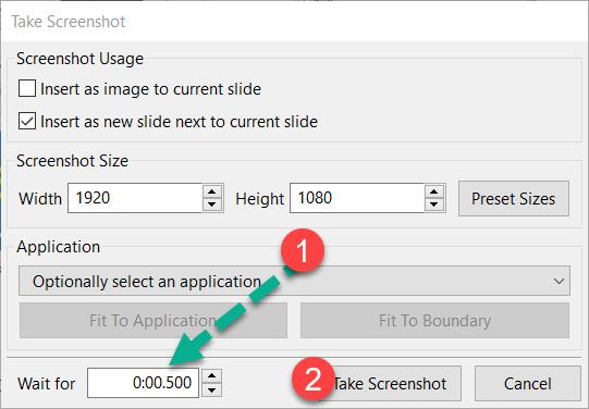 Delayed screenshot ActivePresenter