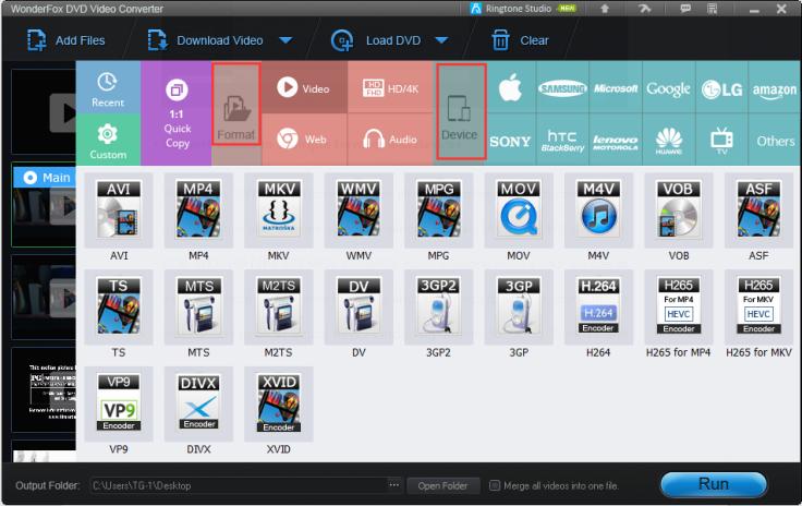 Wonderfox DVD Converter Formats.png