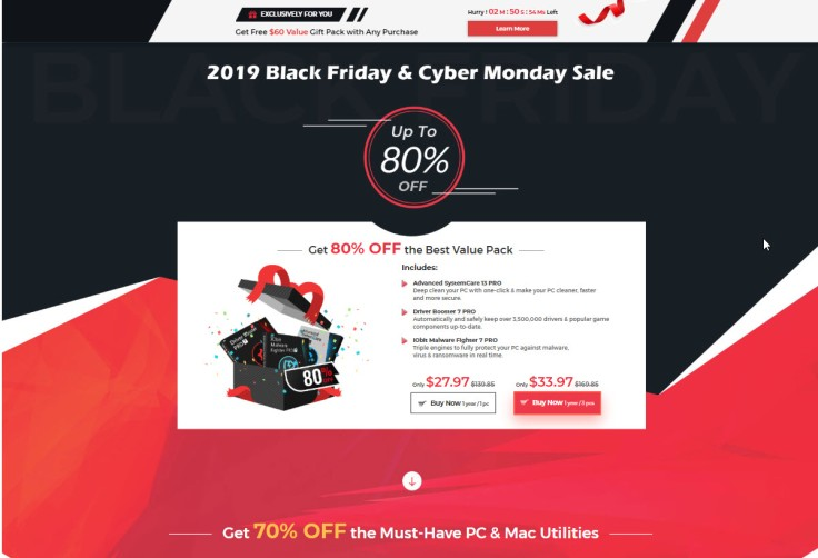 IObit 2019 Black Friday and Cyber Monday