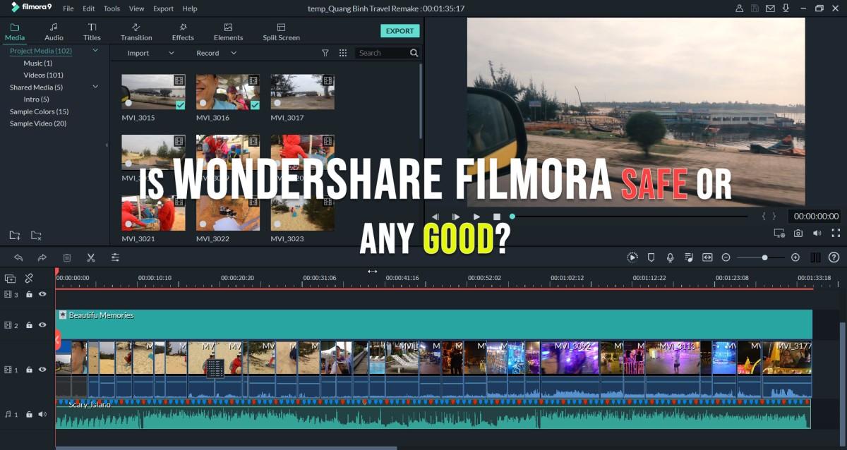 is wondershare filmora safe