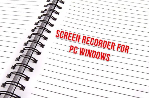 Screen recorder for PC Windows