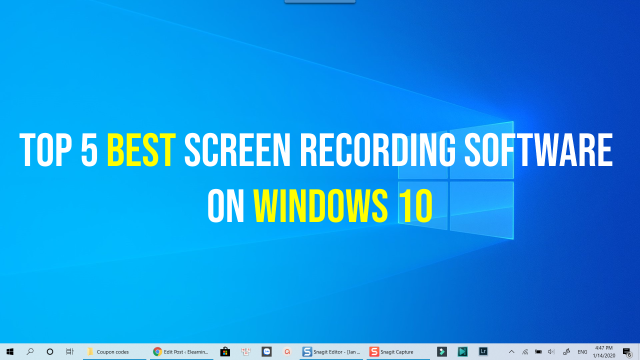 5 best screen recorder 1