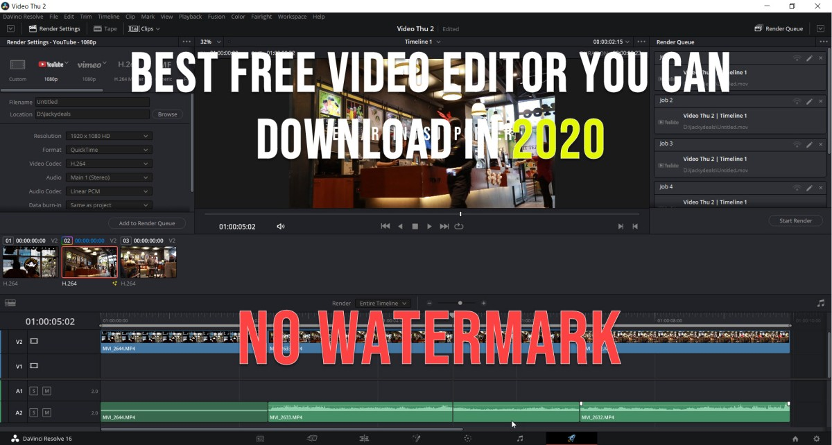free video editor no watermark