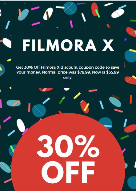 30% Off Filmora X